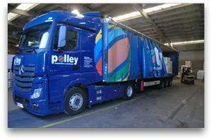 Camion transports Polley