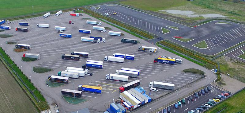 Polley parking sécurisé vue aérienne